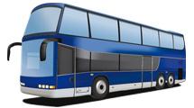 Bus azul realista