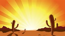 Cactus al anochecer