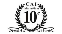 Logo CAI 10e anniversaire
