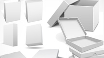 Cajas 3D en gris