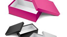 Cajas 3D realistas en tres motivos