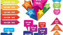 Cajas de texto en varios modelos y colores listas para editar