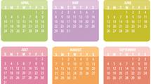 Calendario 2011 colorido