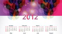 Calendario 2012: Modelo abstracto en violeta