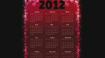 Calendario 2012: Modelo oscuro grunge