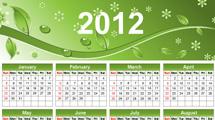Calendario 2012: Verde naturaleza