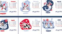 Calendario con conejos
