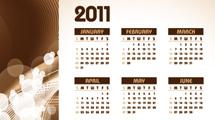 Calendario marrón de 2011