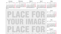 Calendarios 2012: Dos templates para agregar imagen