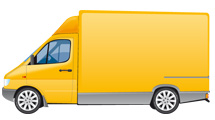 Camión amarillo realista