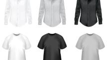 Camisas y camisetas en blanco y negro