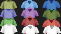 Camisetas de colores en tres modelos