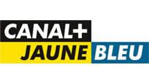 Logo Canal+ jaune bleu