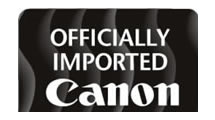 Logo Canon Officially Imported