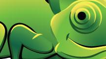 Caricatura de camaleón