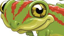 Caricatura de iguana