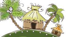 Caricaturas sobre islas