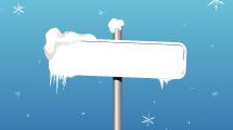 Cartel con Nieve