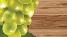 Cartel con uvas blancas