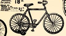 Cartel vintage: bicicletas