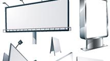 Cartelera en blanco en varios modelos con luces