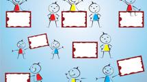 Carteles infantiles con caricaturas