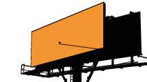 Carteles publicitarios anaranjados