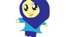 Chica con pañuelo azul
