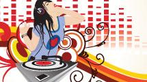 Chica disc jockey