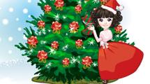 Chica festejando Navidad