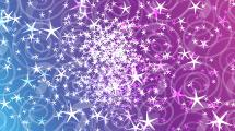 Cielo azul y violeta