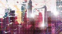 Ciudad digital texturada