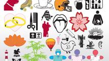 Cliparts de colores variados
