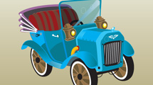 Coche antiguo cartoon