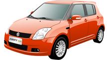 Coche Suzuki Swift de color rojo