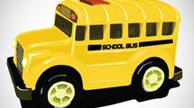 Colectivo escolar amarillo
