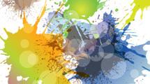 Composición de manchas de pintura