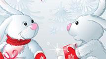 Conejos con regalos