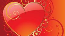 Corazón con bordes dorados