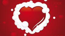 Corazón con espuma