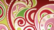 Corazón con patrón abstracto