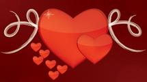 Corazón con swirls