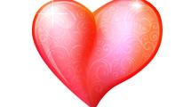 Corazón estilo glossy con suaves detalles de swirls decorándolo