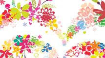 Corazón floral multicolor