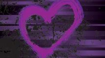 Corazón púrpura grunge