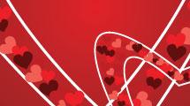 Cortina con corazones
