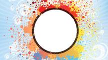 Círculo con manchas de color