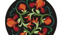 Círculos con flores