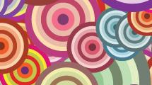 Círculos de colores amontonados