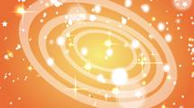 Círculos en naranja con destellos
